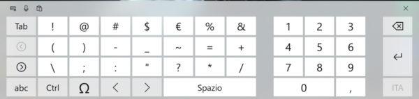 Come digitare i caratteri speciali
