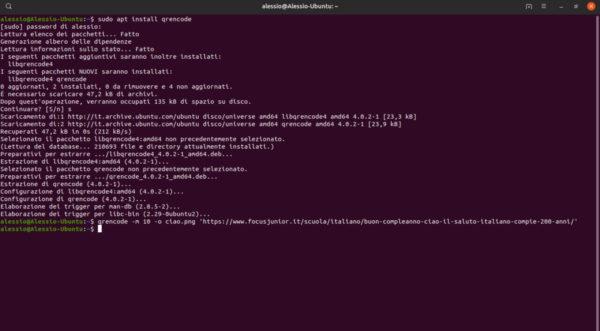 Come generare codici QR su Linux