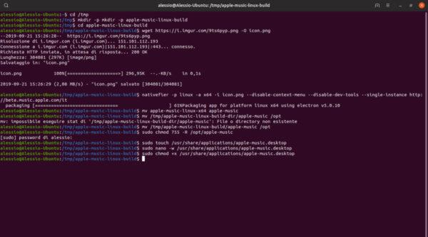 Come installare Apple Music su Linux