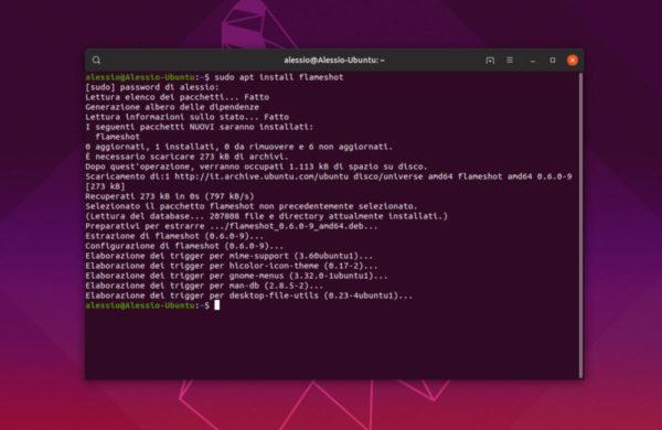 Come installare Flameshot su Linux