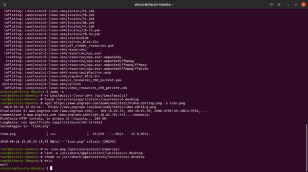 Come installare LosslessCut su Linux
