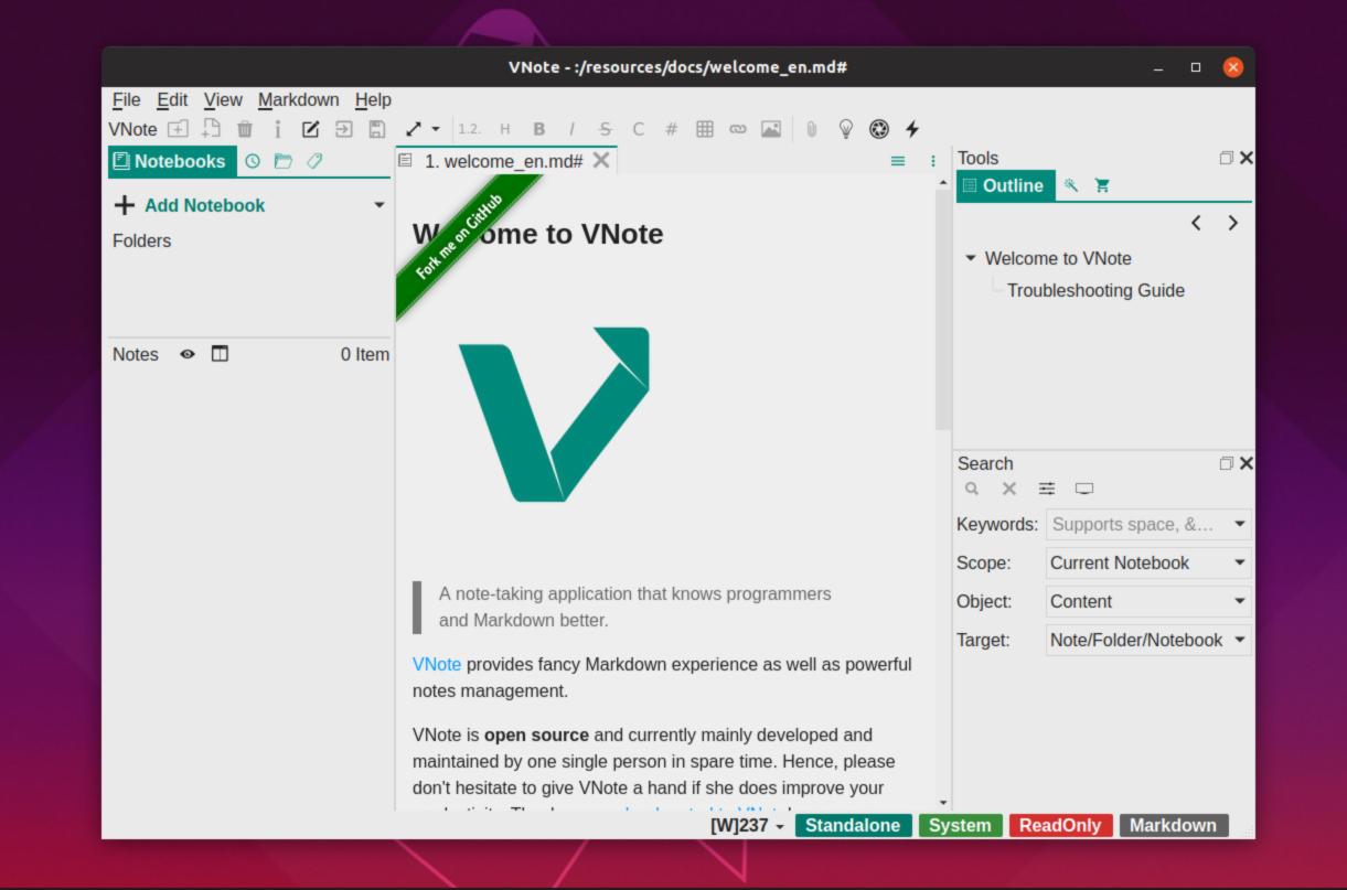 Come installare VNote su Linux 1