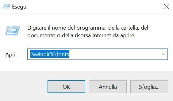Come installare font su Windows 10 1
