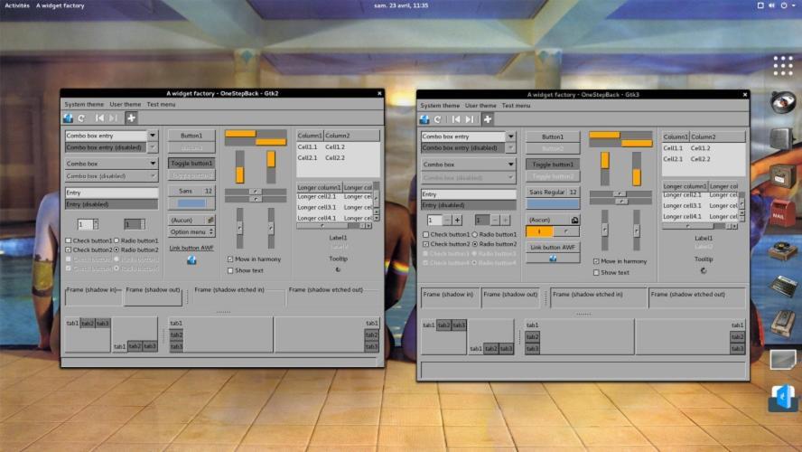 Come installare tema OneStepBack su Linux 1