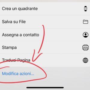 Come modificare il menù di condivisione su iPhone 3