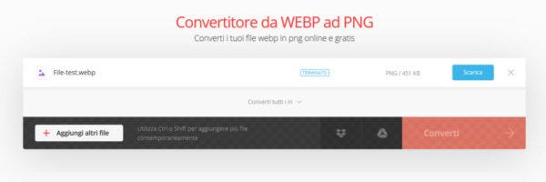 Come convertire WEBP in JPG o PNG online