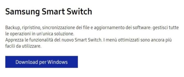 Come funziona Samsung Smart Switch 6