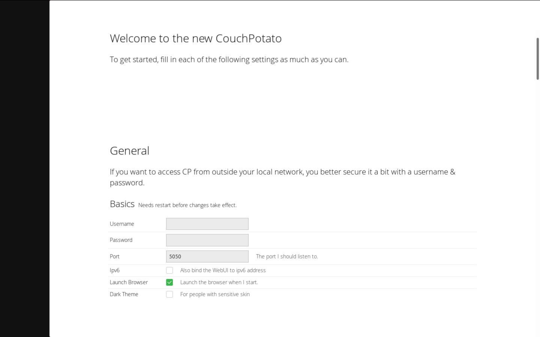 Come installare CouchPotato su Linux 1