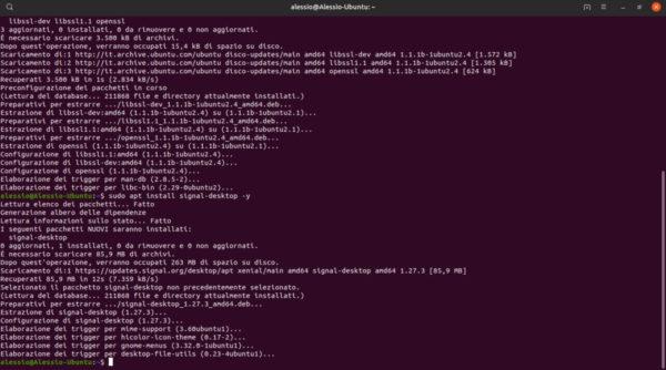 Come installare Signal su Linux
