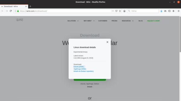 Come installare Wire su Linux