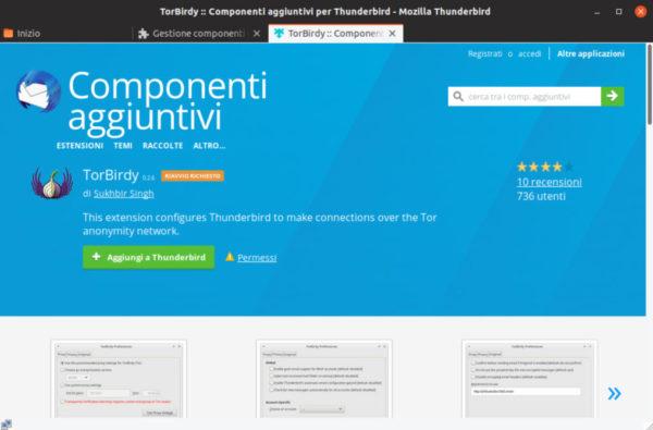 Come integrare Thunderbird con Tor su Linux