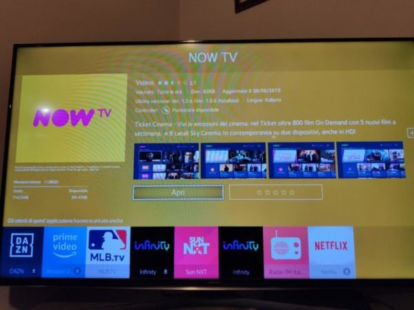 Come scaricare NOW TV su smart TV Samsung