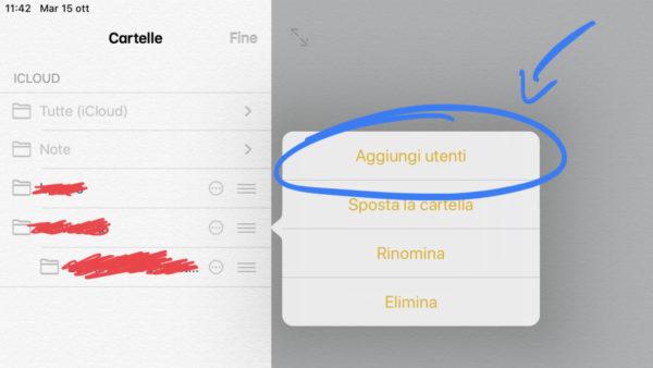 Come condividere una cartella nell'app Note su iPhone