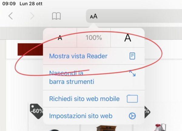 Come attivare la modalità lettura su iPhone e iPad