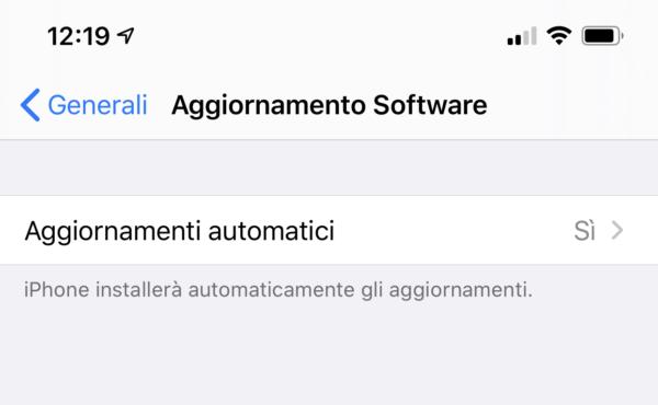 Aggiornare il Software
