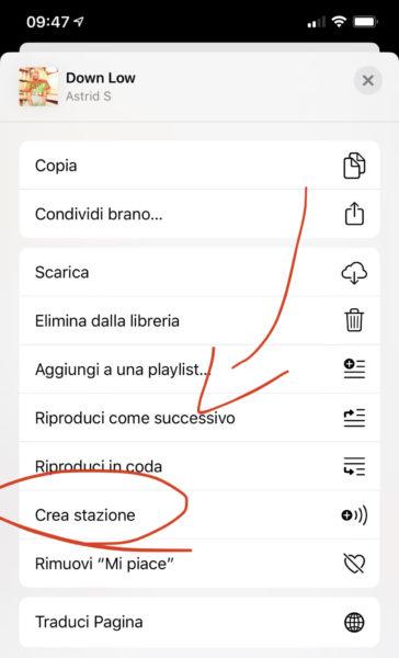 Avviare diverse stazioni radio su Apple Music