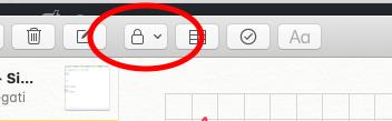 Come proteggere una nota su Mac