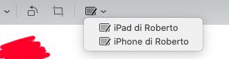 Annotare un PDF su Mac utilizzando iPad o iPhone