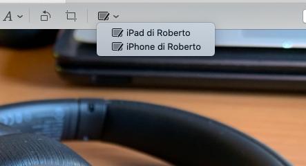 Annotare un'immagine su Mac utilizzando iPad e iPhone