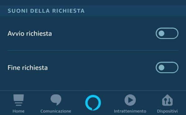 Come attivare suono di ascolto su Alexa