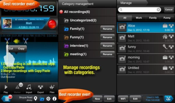 registrare telefonate iphone Recorder Plus