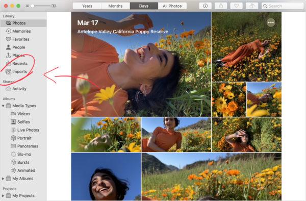 Importare foto iPhone su Mac