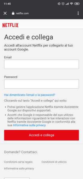 Come collegare Google Home a Netflix 1