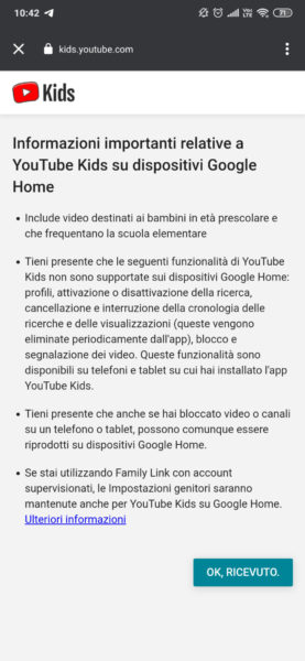 Come collegare Google Home a YouTube 2