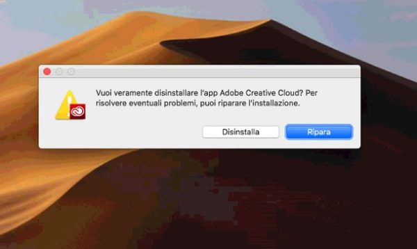 Come disinstallare Adobe Creative Cloud 4