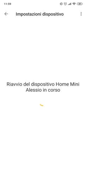 Come riavviare Google Home 1