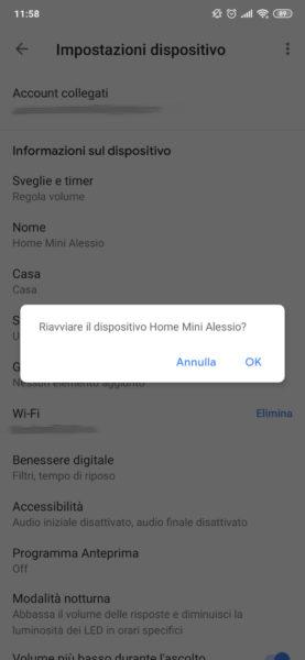 Come riavviare Google Home 2