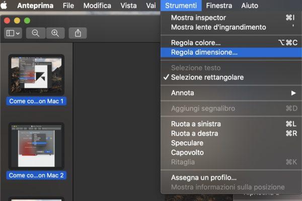 Come ridimensionare più foto insieme con Mac 3