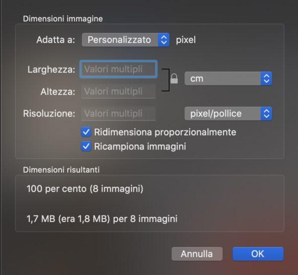 Come ridimensionare più foto insieme con Mac 4