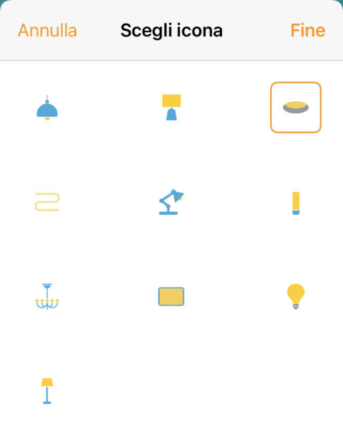 Cambiare icona dispositivi HomeKit