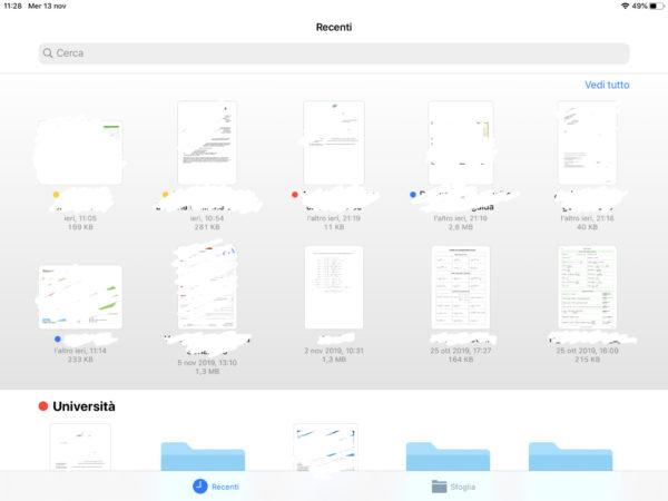 Organizzazione dell'app