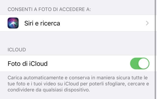 Scaricare foto da iCloud su iPad
