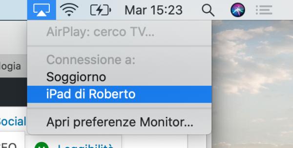 Come usare iPad come monitor del Mac
