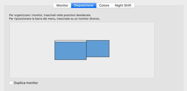 Come modificare la disposizione di Sidecar su Mac