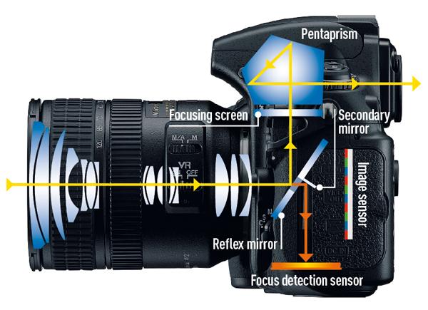 funzionamento di una fotocamera reflex