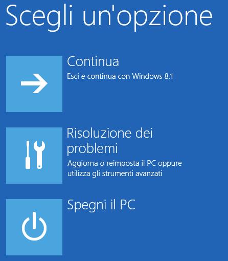 schermo nero Windows 10 screen 1