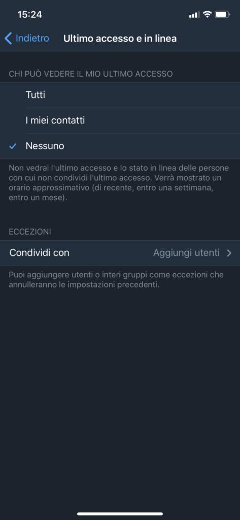 Accesso Telegram