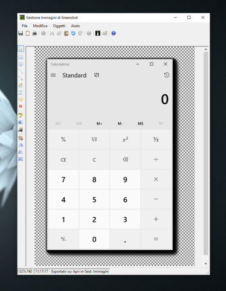 Come fare screenshot con ombra su Windows 10