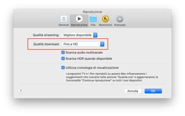Download contenuti Apple TV+ su Mac