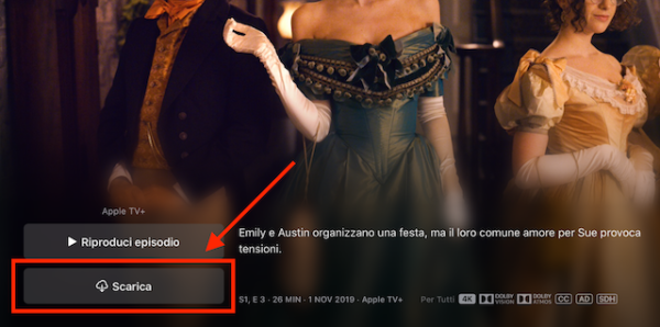 Download contenuti Apple TV+ su Mac 2