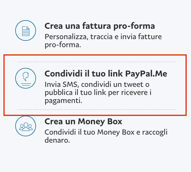 link pagamenti personali PayPal sul web