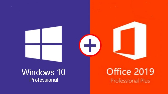 Windows 10 pro Office 2019 Professional Plus