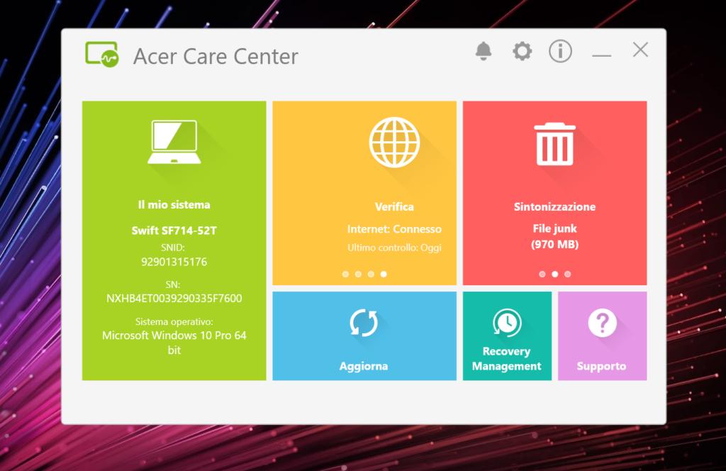 acer care control