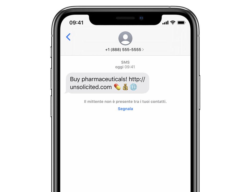 Come filtrare i messaggi sconosciuti 2