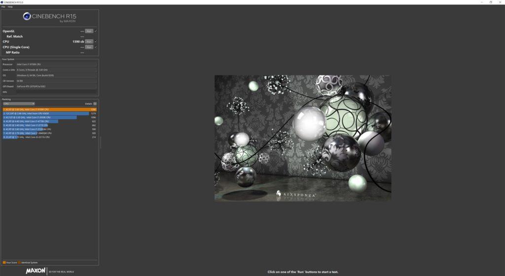 Recensione MSI Trident X Plus Benchmark Cinebench
