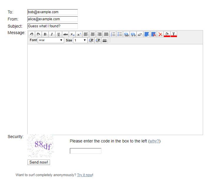 Come inviare email anonime anche con allegati 2